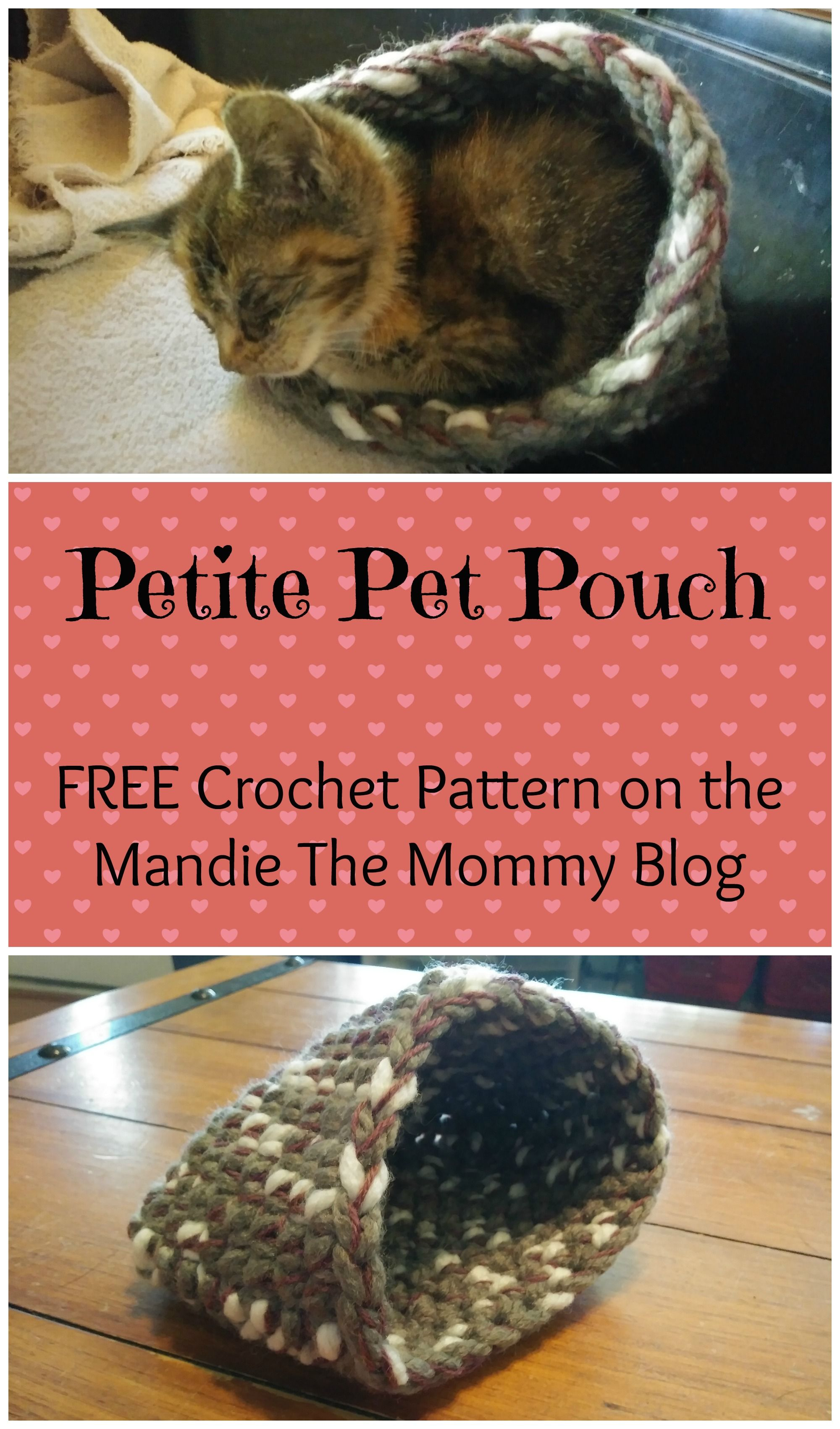 Get the Petite Pet Pouch crochet pattern FREE on my blog, Mandie The ...