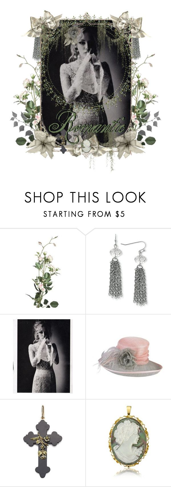 """""""The Romantic"""" by tattered-rose ❤ liked on Polyvore featuring 1928, Riley, Jacques Vert and Del Gatto"""