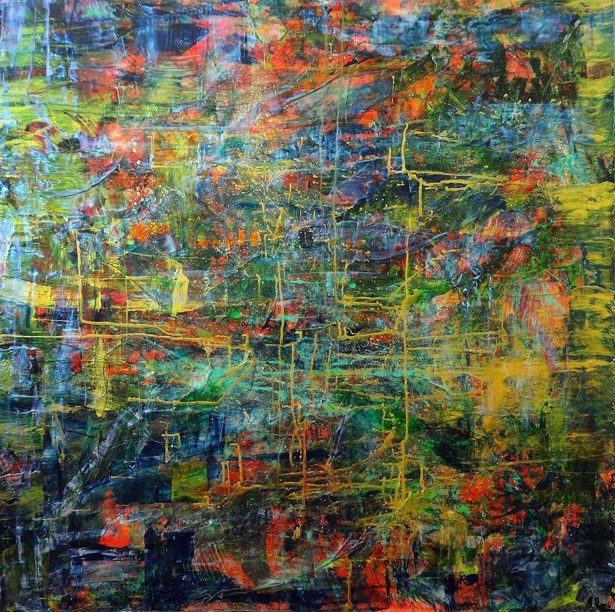 Abstract Art Painting by Nestor Toro dansisken