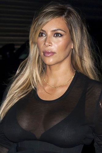 Kim Kardashian Shows Off New Blonde Hair In Paris Kim