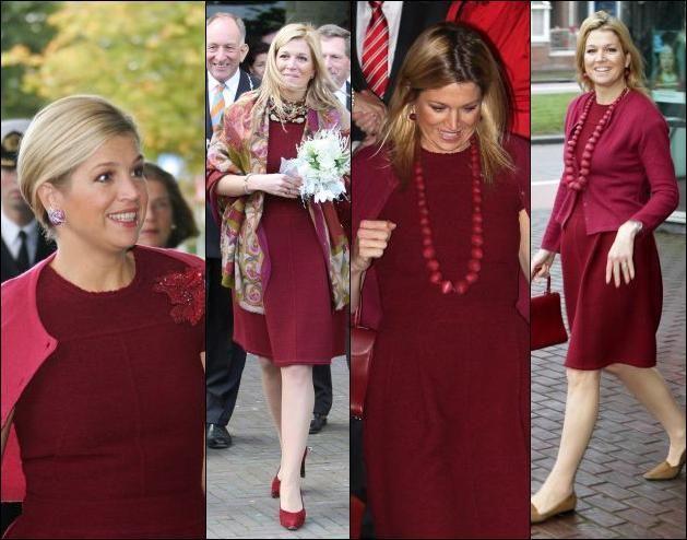 Znalezione obrazy dla zapytania queen maxima oscar de la renta dress