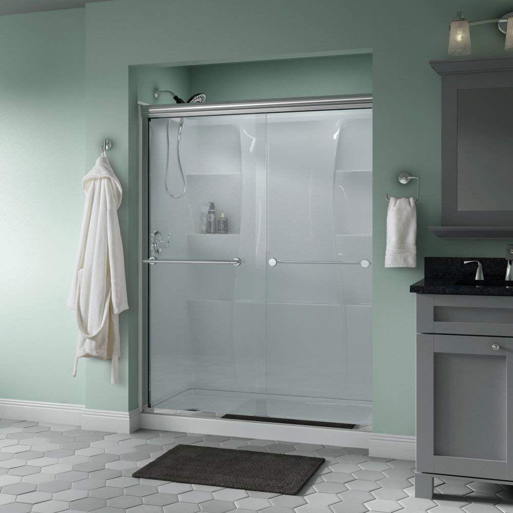 Delta Showers Door Semi Frameless Sliding Glass Shower Door