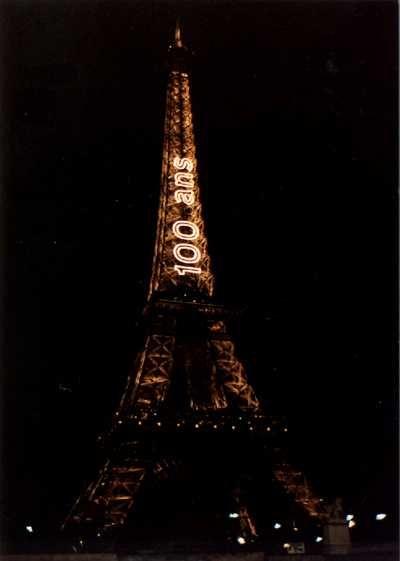 Eiffel Tower -- celebrating a big birthday. We were there!