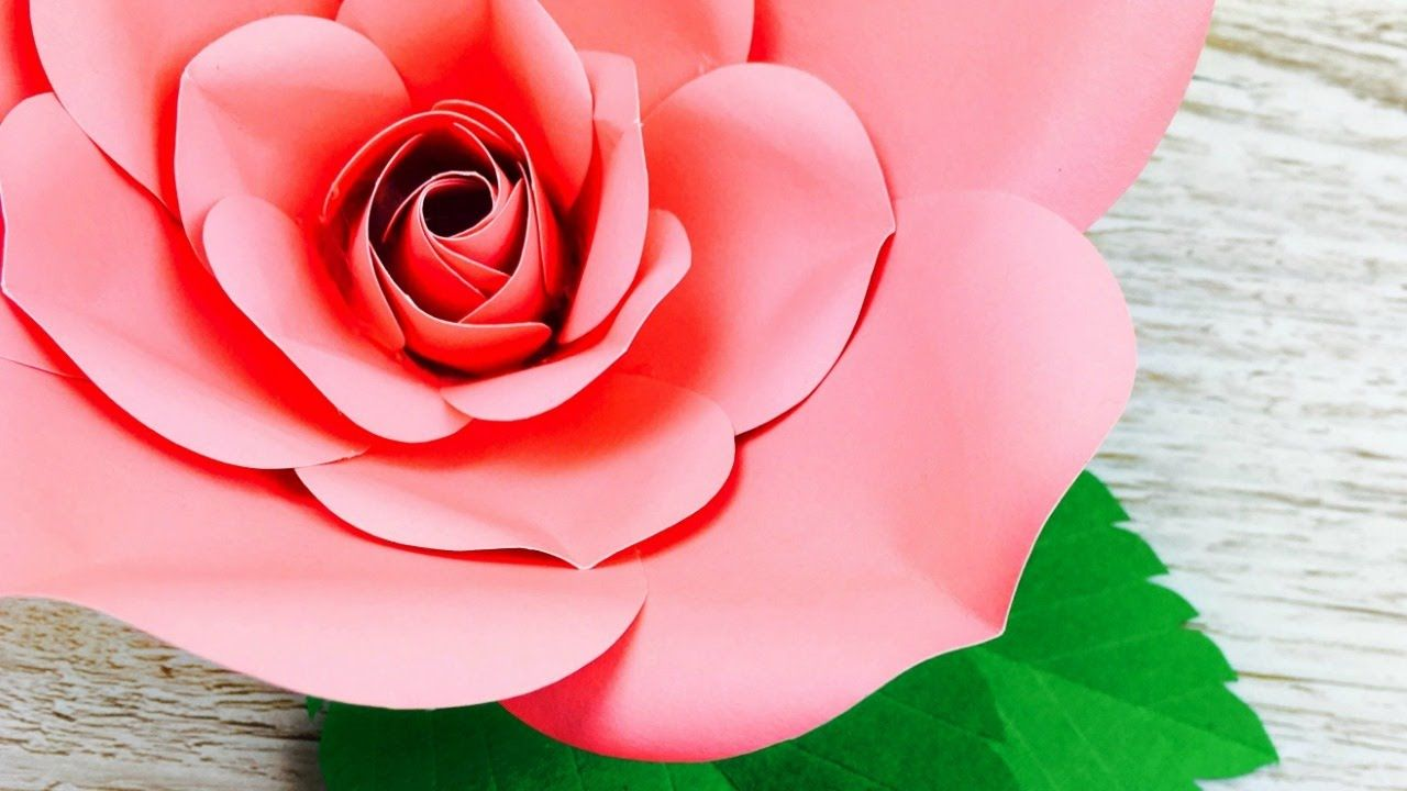 Rosa de papel como hacer rosa de papel flores gigantes - Como hacer flores de papel ...
