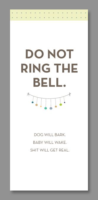 Funny Do Not Disturb Baby Door Hangers | Free Printable, Doors And