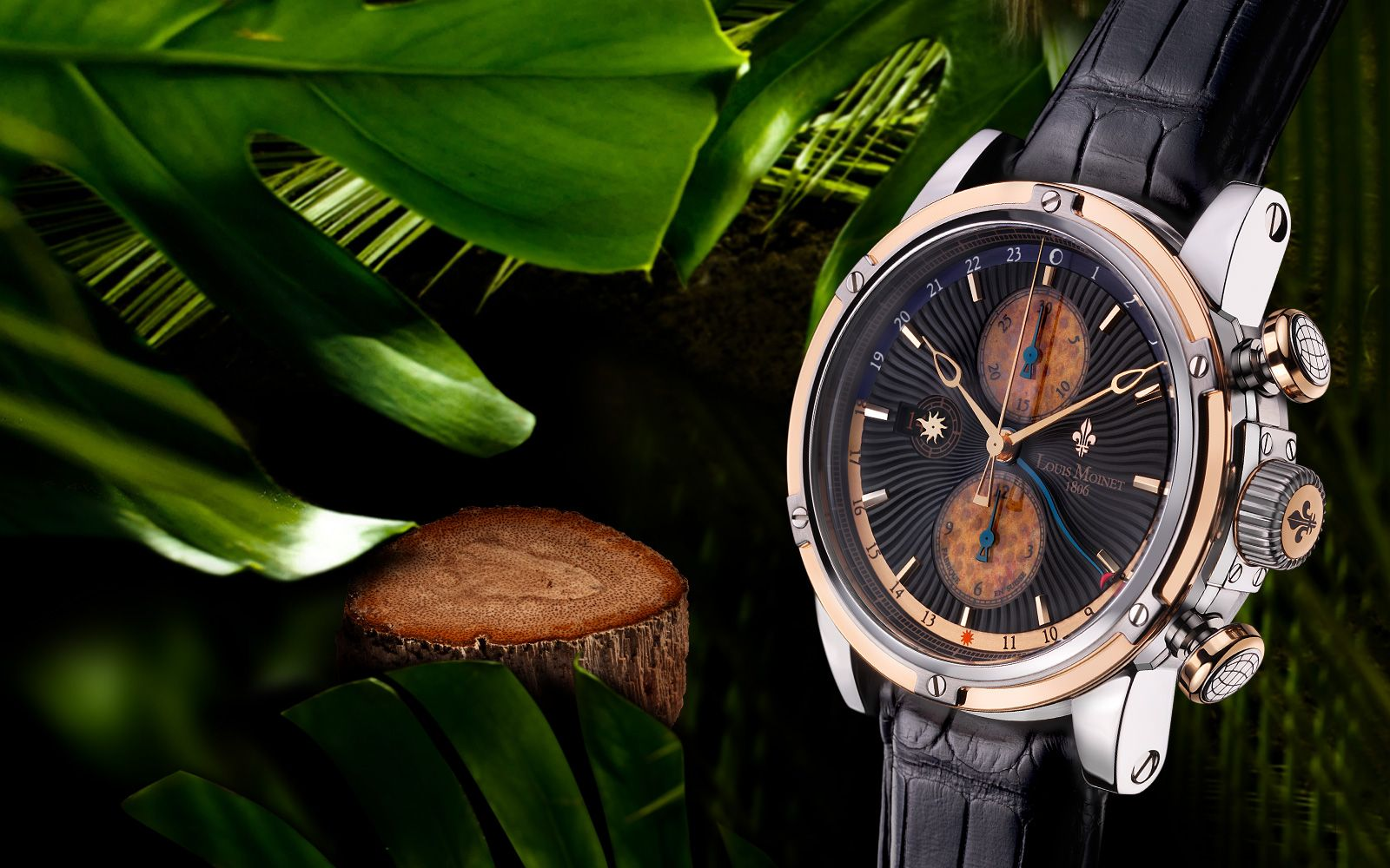 Louis Moinet - Geograph Rainforest - Limited Editions - 18K Rose Gold: reddot design award best of best 2012
