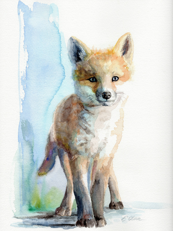 Fox Baby Wall Art Nursery Decor
