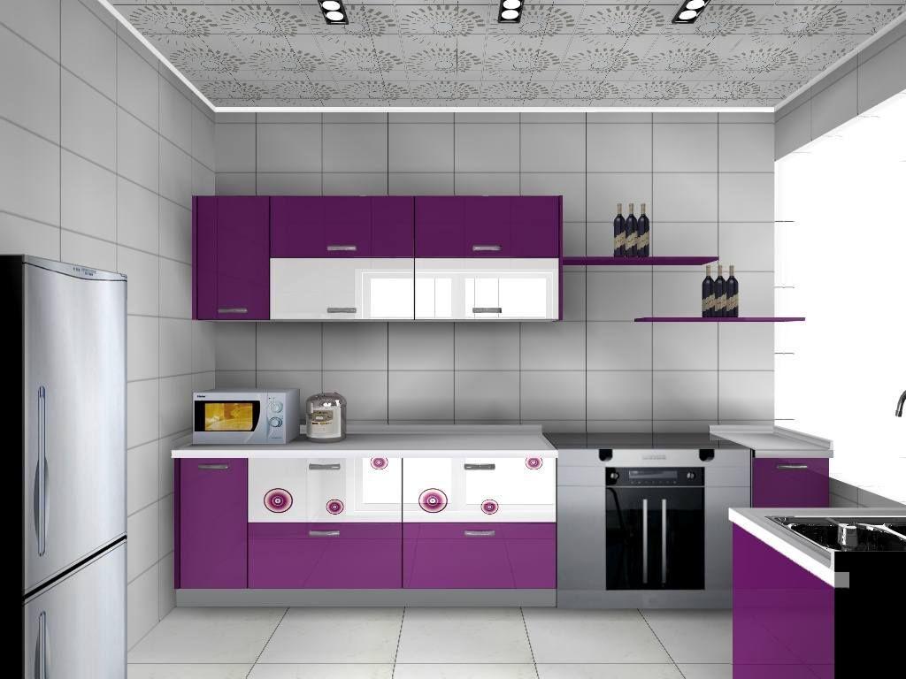 Purple Color Kitchen Love Helen