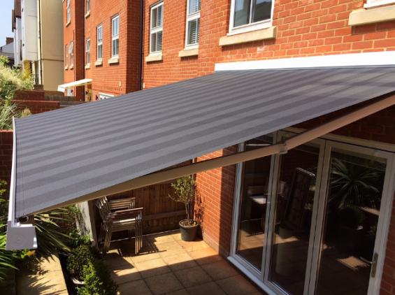Outdoor Spaces Have Become Top Priority For Developers Patio Awning Outdoor Awnings Garden Awning