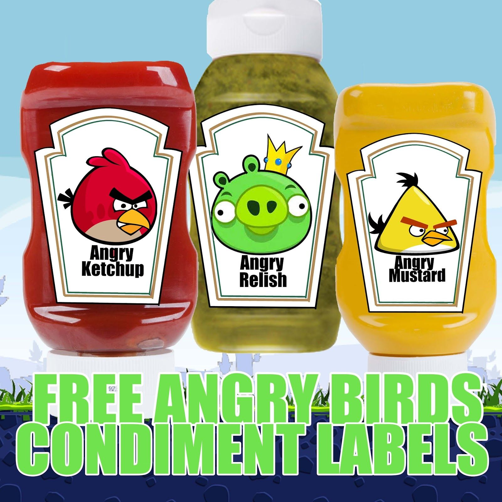 Free Angry Birds Birthday Party Printable Files Condiment Labels