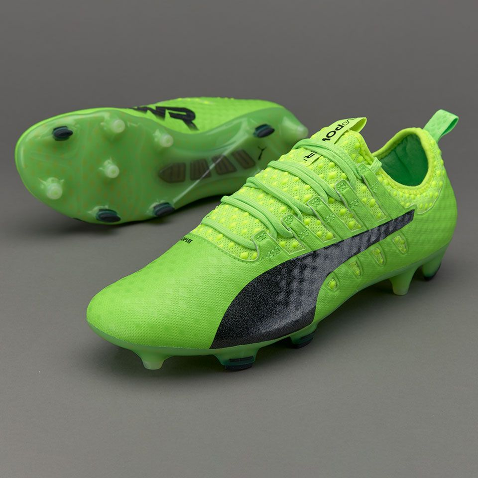 ee1e3e3f3ec Puma evoPOWER Vigor 1 FG - Green Gecko Puma Black Safety Yellow ...
