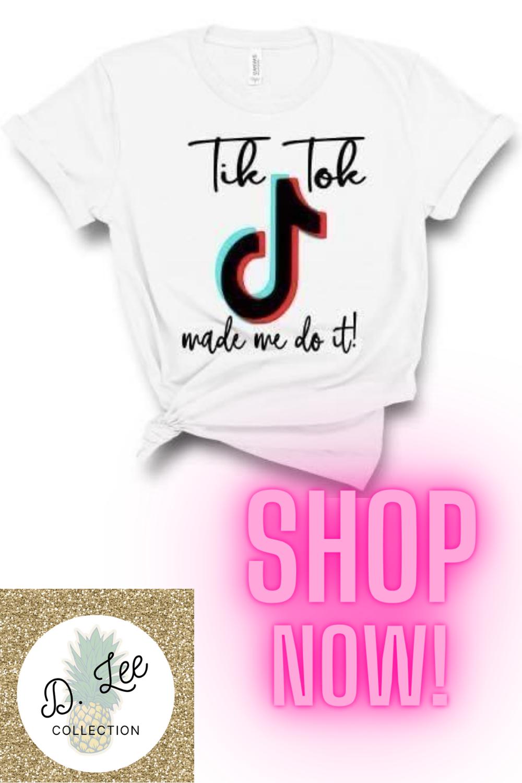 Tik Tok Made Me Do It Shirts Kids Shirts Clothes