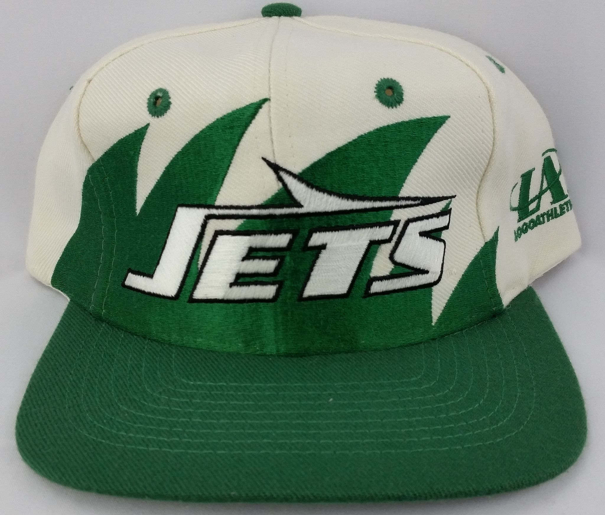 bc1155ae New York Jets Hat Logo Athletic Sharktooth Snapback Vintage NFL Pro Line Cap