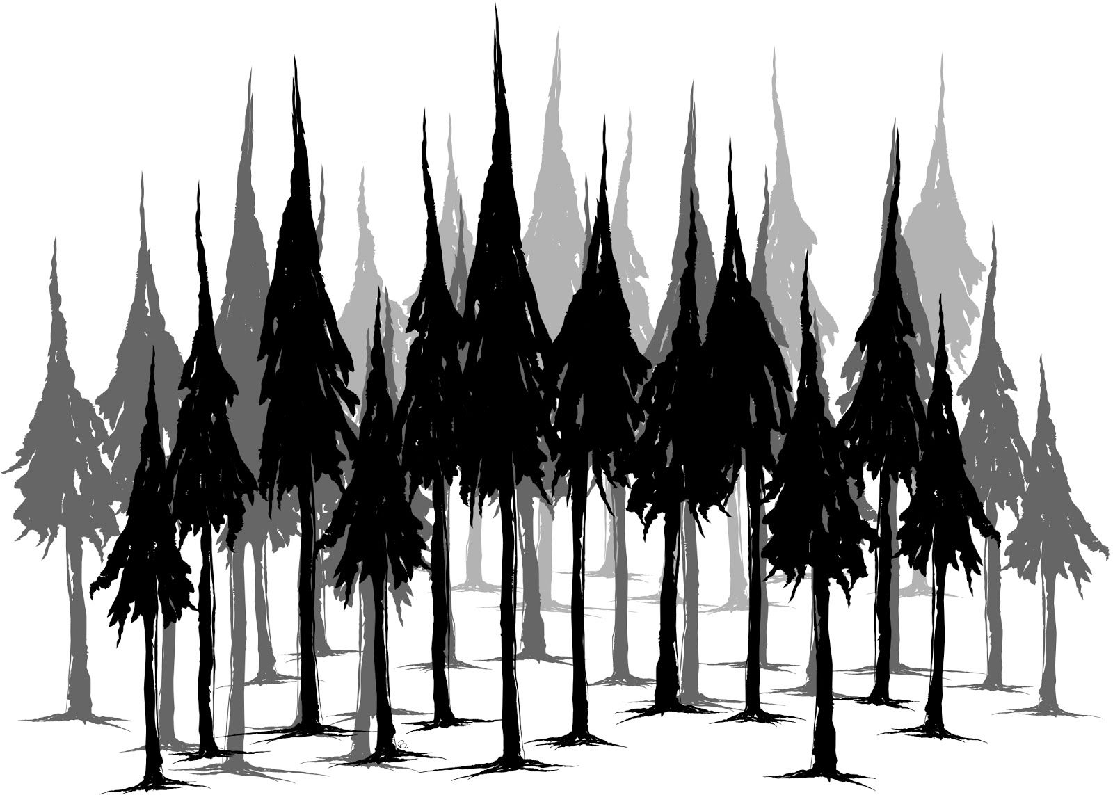 Beccy S Place Pine Forest Freebie Forest Silhouette Pine Tree Silhouette Tree Silhouette