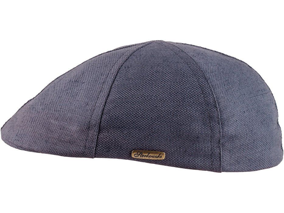 b0a466ef432 Sterkowski Light Breathable Linen and Cotton Summer 6 Panel Duckbill Flat  Cap US 7 Grey