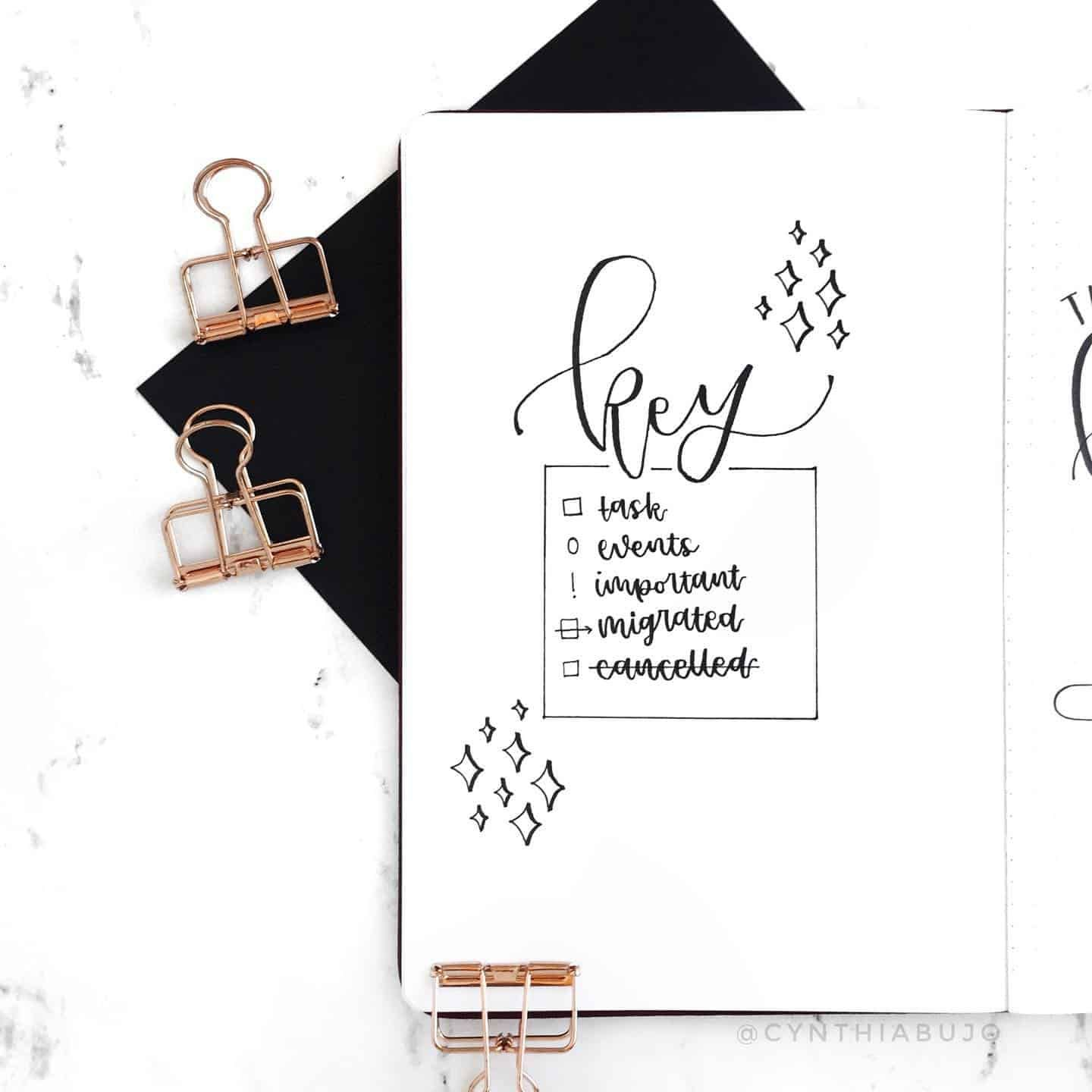 40+ Awesome ways to create a Key for Your Bullet Journal!