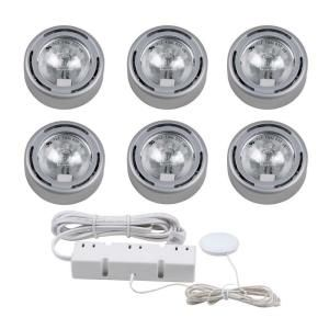 Hampton bay 6 light silver under cabinet xenon puck light kit hampton bay 6 light silver under cabinet xenon puck light kit ec1333sv at the home depot aloadofball Gallery