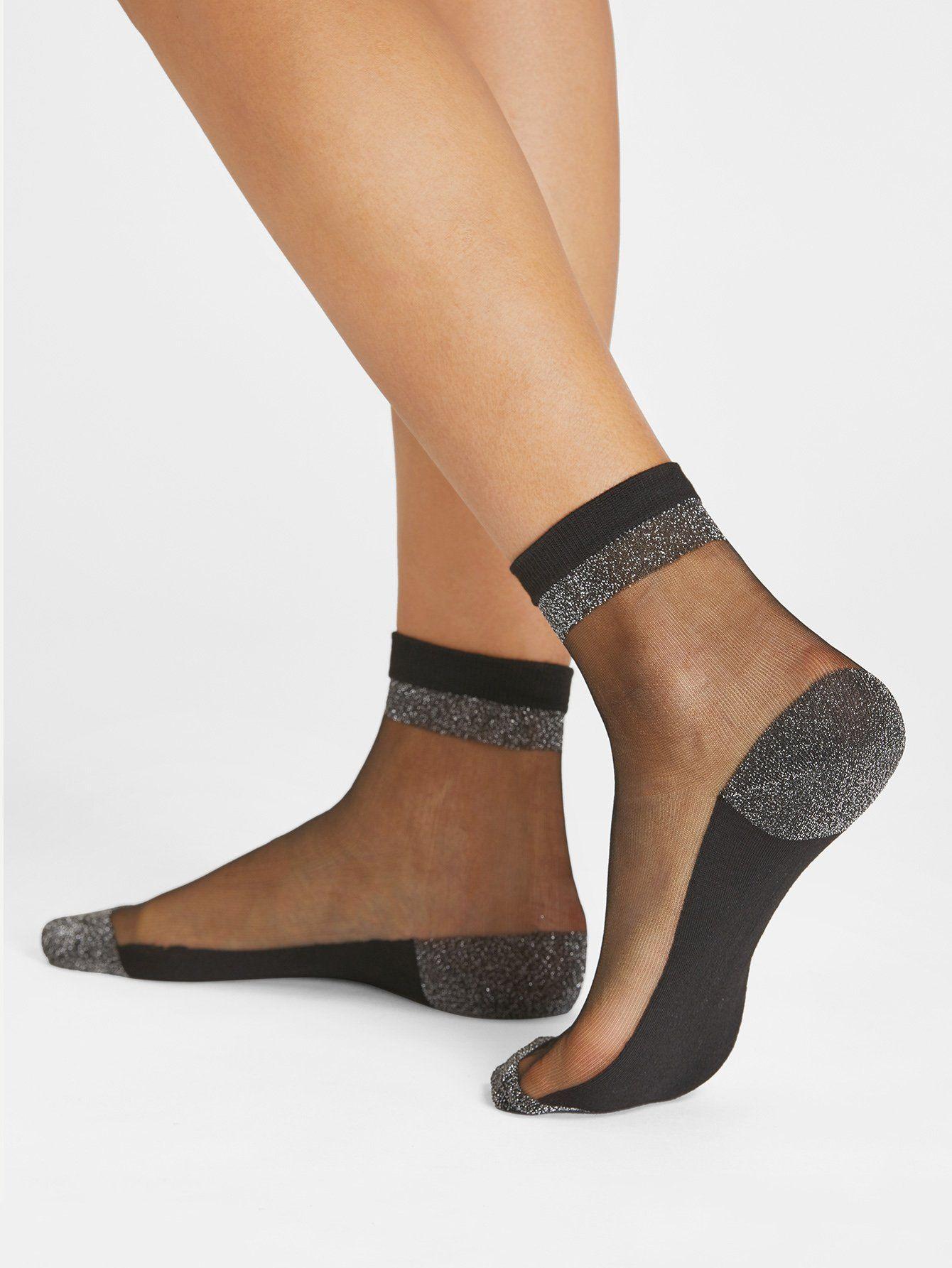 e7e2fb8b88df6 Contrast Mesh Socks -SheIn(Sheinside) | Ankle socks in 2019 | Mesh ...