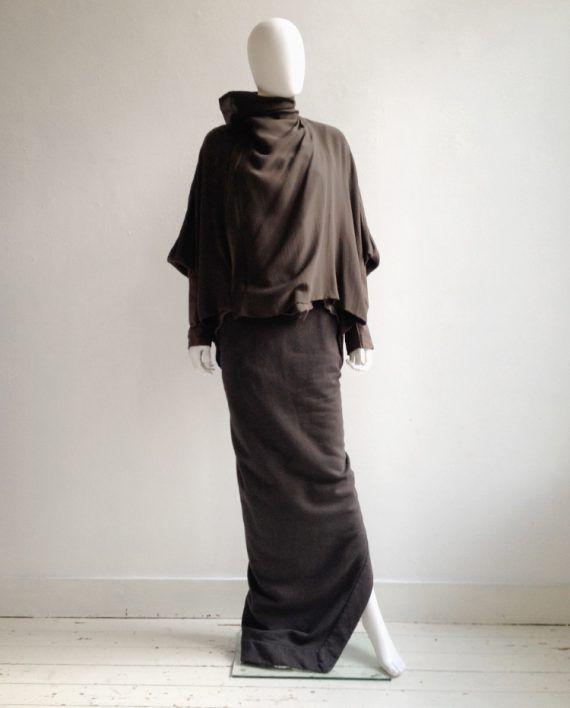 Rick Owens NASKA bubble coat with leather sleeves — spring 2012 ...