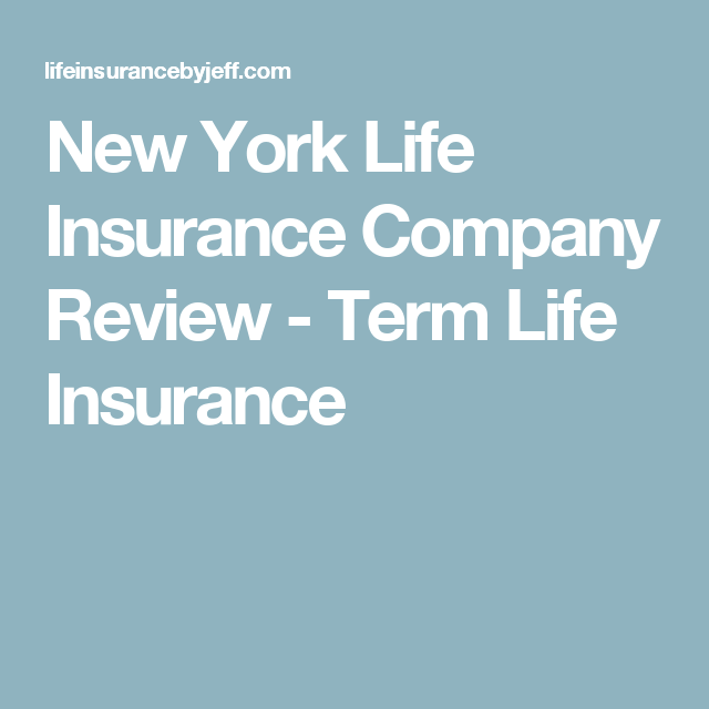 Aarp Life Insurance Quotes Classy New York Life Insurance Company Review  Term Life Insurance  New