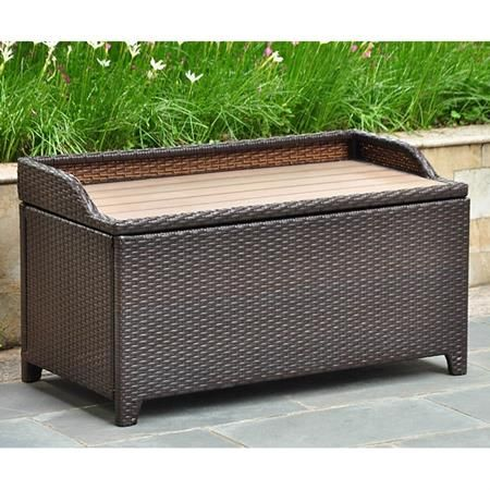 Wicker Storage Outdoor Storage Bench Outdoor Storage Trunk Patio Storage Bench