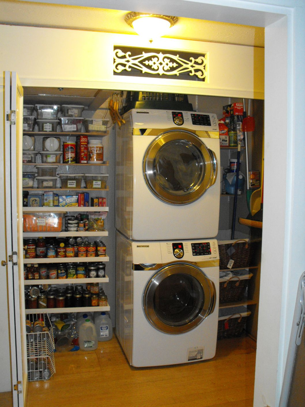 organizing the pantry laundry closet s storage organization rh co pinterest com