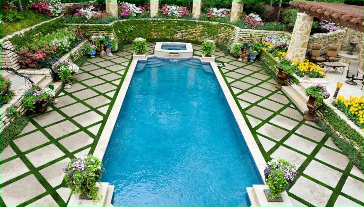Beautyroomdecor Com Backyard Pool Pool Landscaping Geometric Pool