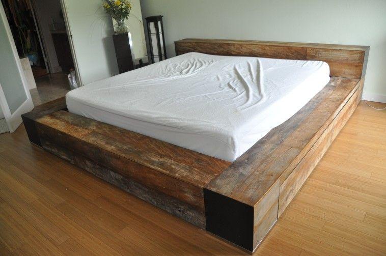 Image Of Diy Low Profile Queen Size Platform Bed Frame Design Idea