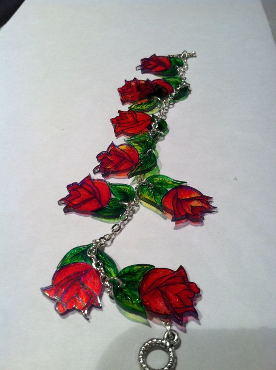 Original handmade roses bracelet