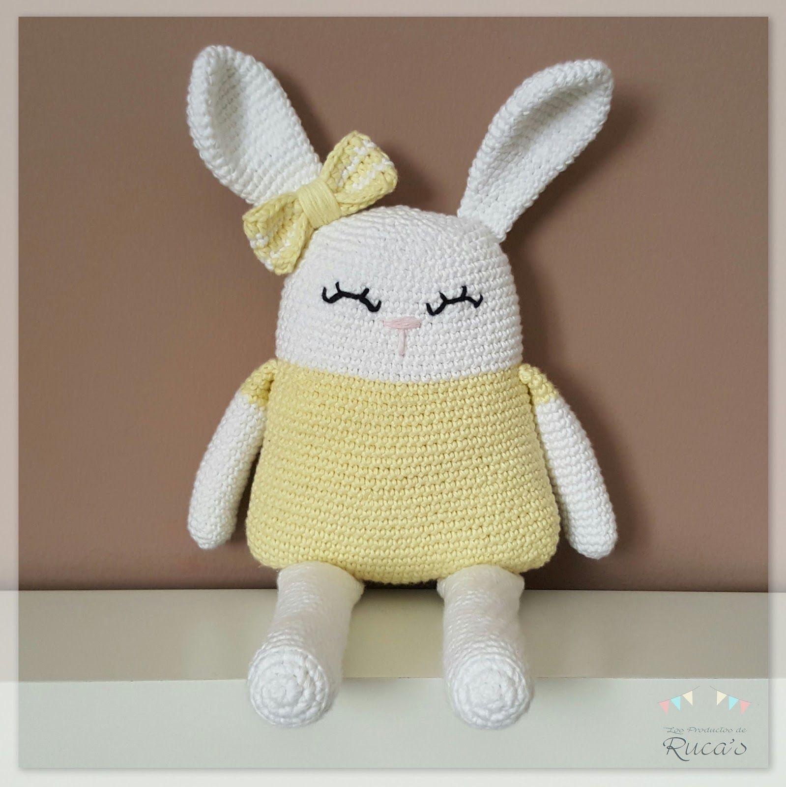 Helena, una dulce conejita amigurumi (patrón gratuito) | Crochet ...