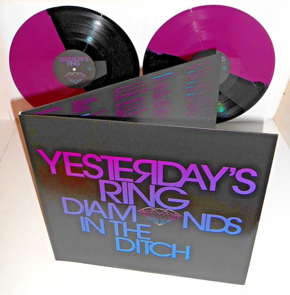 YESTERDAY'S RING diamonds in the ditch Double PINK and Black Vinyl Record LTD ED #punkAlternativeIndiePunkNewWave