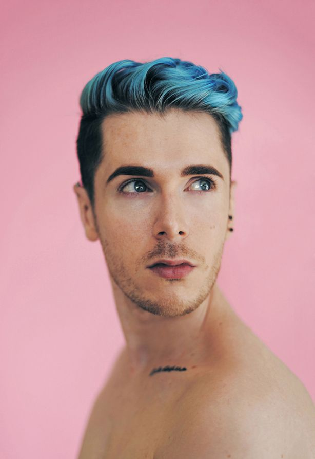Bubblegum Boys Colored Hair Mens Blue Hair Mens Hair Colour