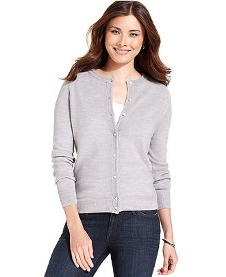 Debbie Morgan Plus Size Sweater, Long-Sleeve Cardigan - Plus Size ...