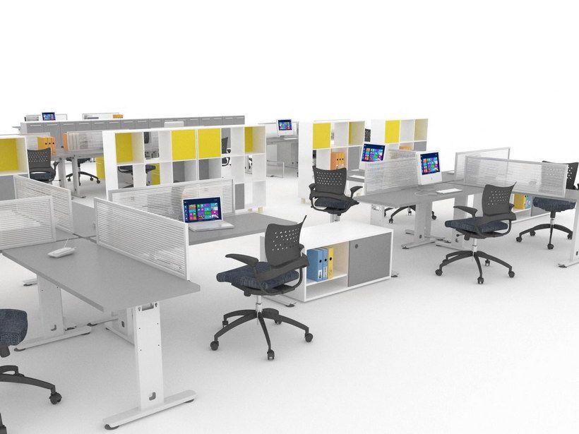 Sistemas modulares para oficina l nea metalika muebles for Modulares para oficina