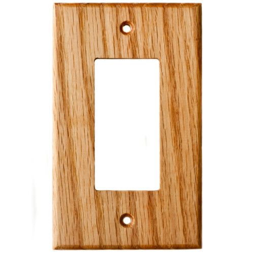 Oak Wood Wall Plate Single Gang Gfci Outlet Cover Decora Switch
