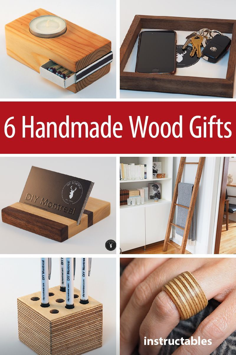 6 Simple Gifts You Can Make From Wood Wood Gifts Diy Wooden