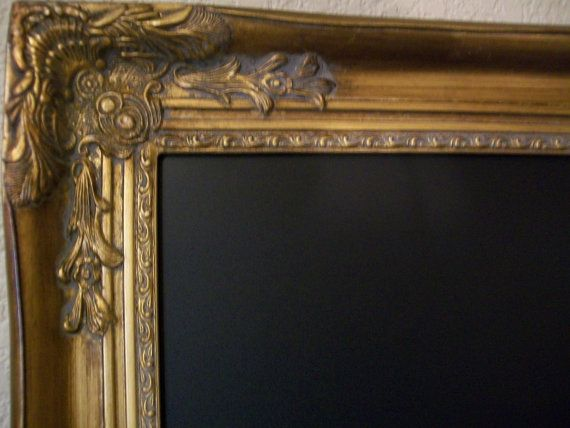 LARGE FRAMED CHALKBOARDVictorian Ornate Vintage by shabbymcfabby, $195.00