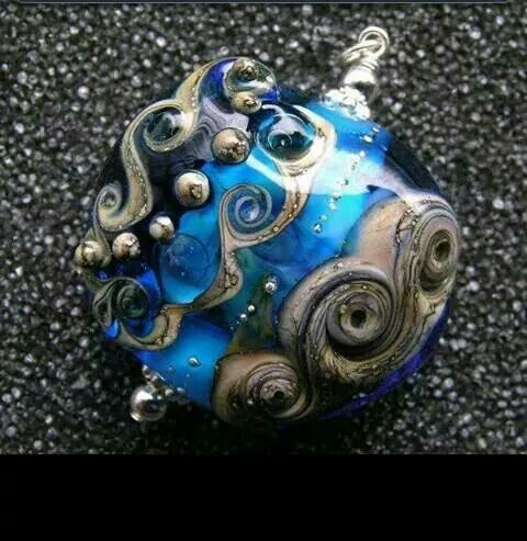Beautiful custom made glass pendant @ witchitywood.com