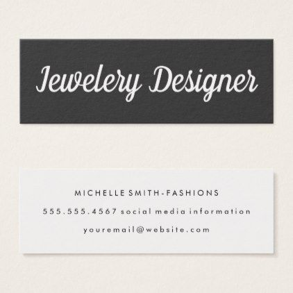 Fancy font minimalist gray mini business card fancy font minimalist gray mini business card makeup artist gifts style stylish unique custom reheart Image collections