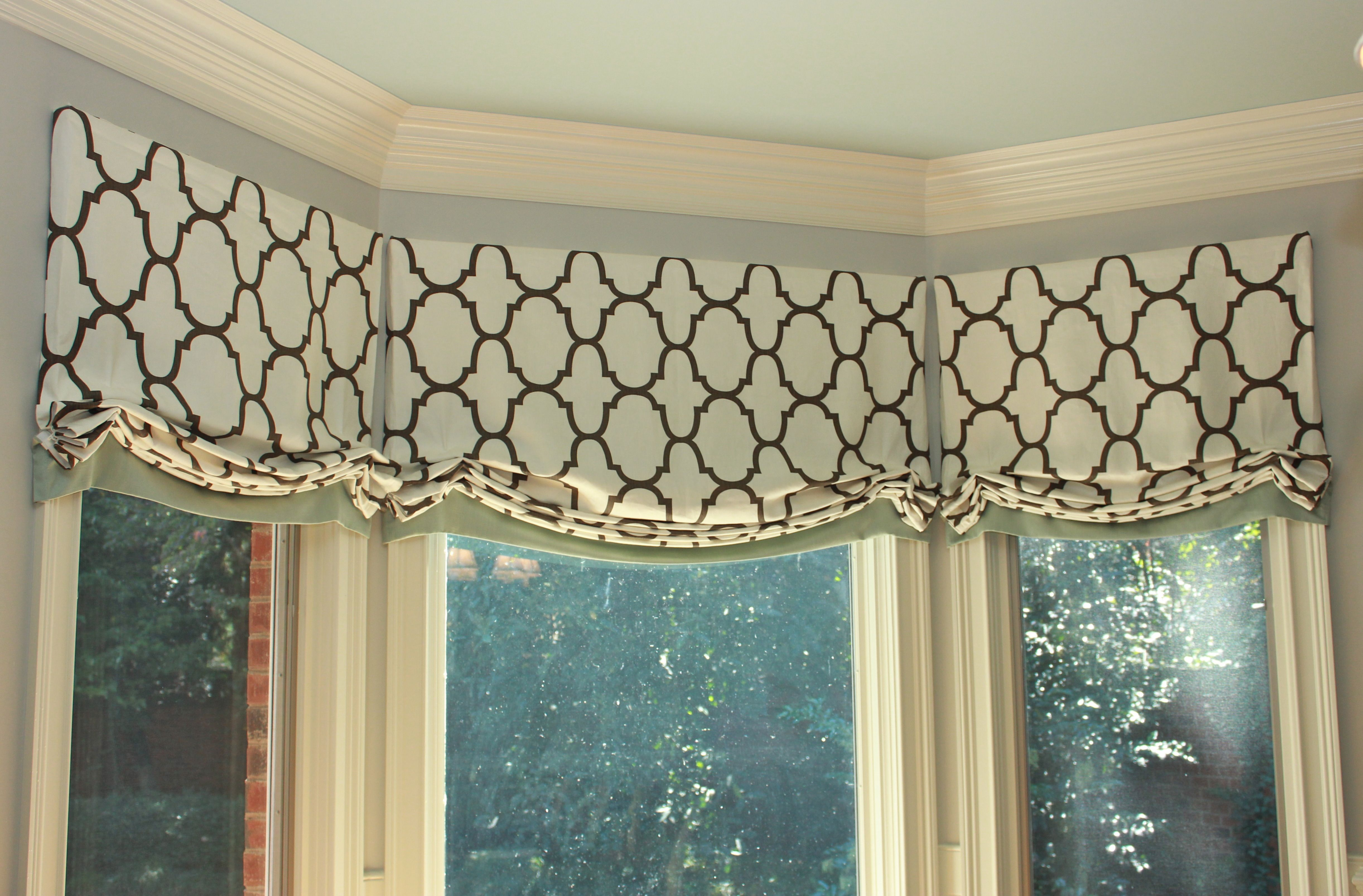 Custom Window Valances In Kravet S Quot Riad Quot Fabric By Www