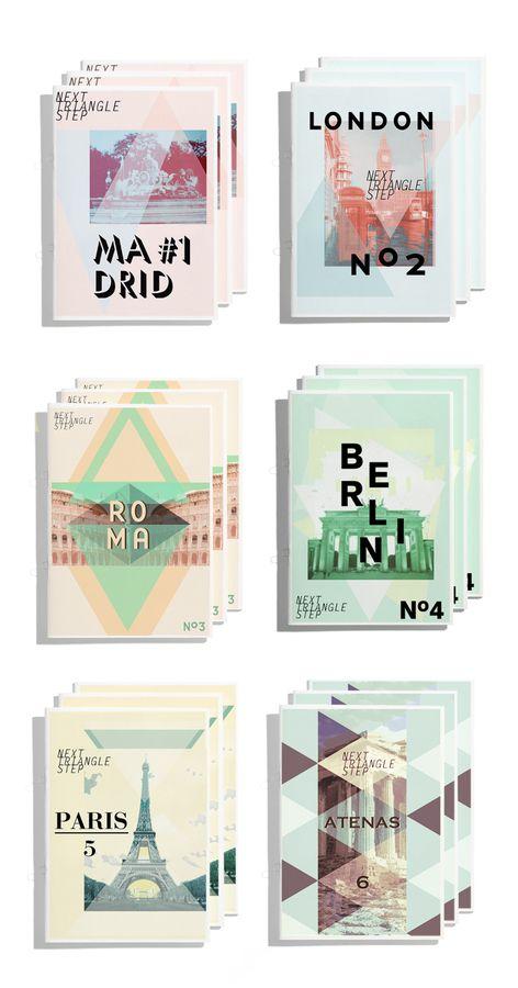 Next Triangle Step Magazine Travel Guide Design Covers By Sonia Castillo Madrid Spain Editorialdesign Graphicdesign
