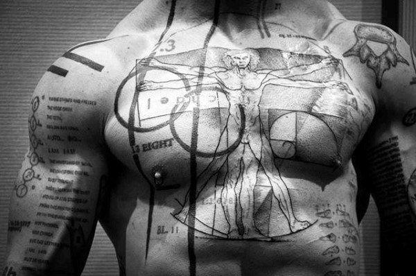 50 Vitruvian Man Tattoo Designs For Men Da Vinci Ink Ideas Vitruvian Man Tattoo Vitruvian Man Tattoo Designs Men