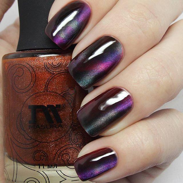 Wine Colored Nail Polish: Wine Red Cat Nail Polish Manicure