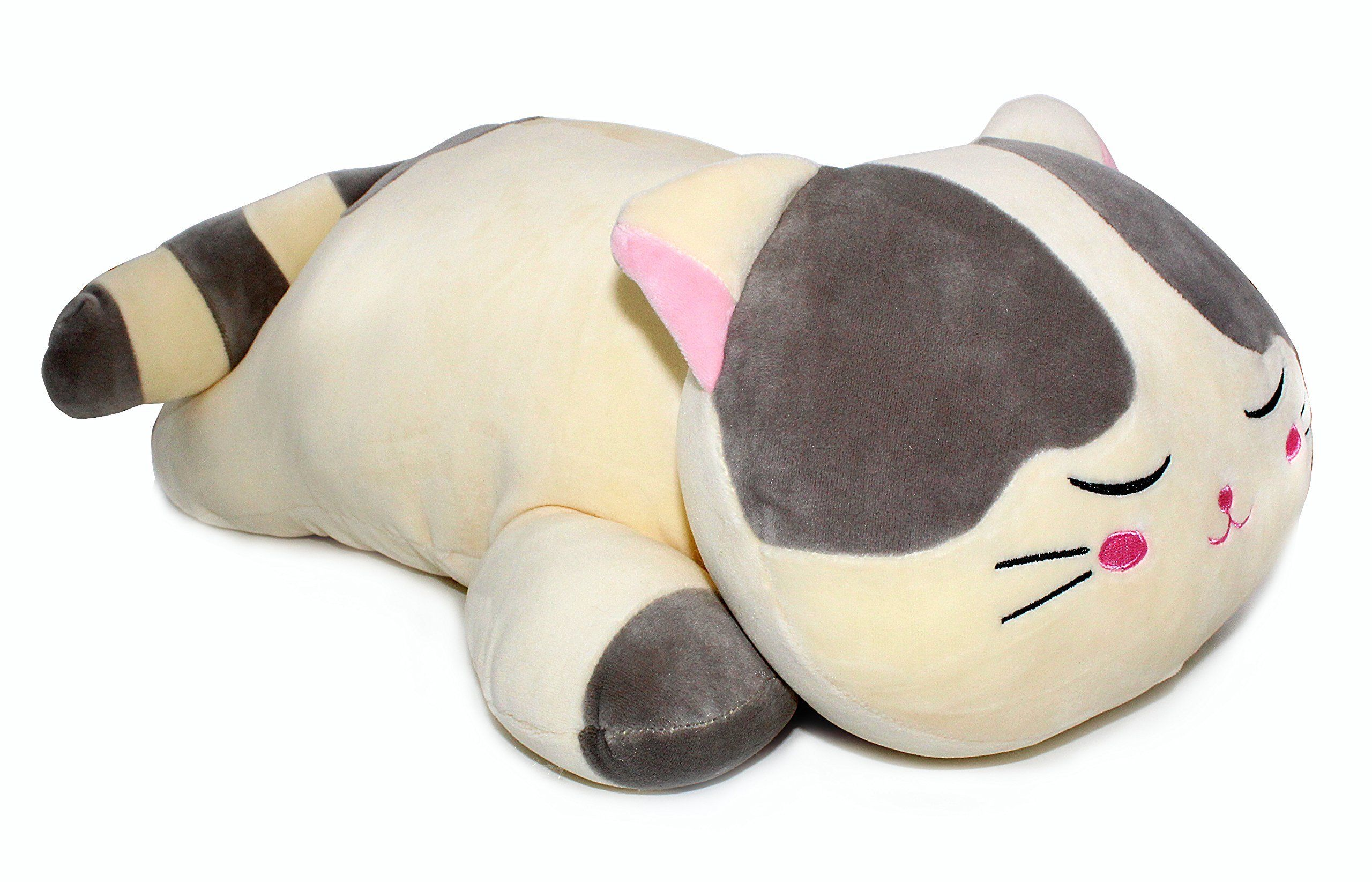 Vintoys Very Soft Cat Big Hugging Pillow Plush Kitten Kitty Stuffed Animals Gray 23 5 With Images Stuffed Animal Cat Animal Pillows Animal Plush Toys