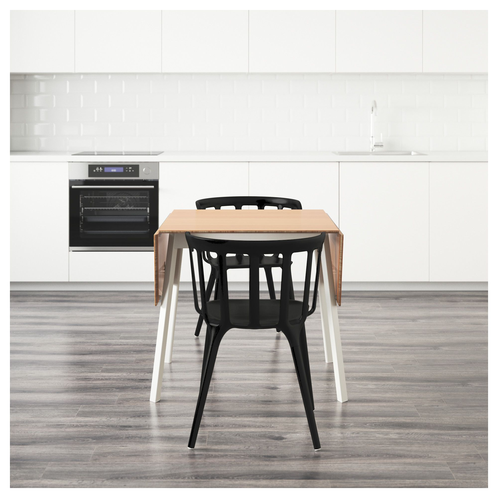 Ps 2012Ikea Ps 2012 Table And 2 Chairs Bambooblack 74 Cm  Ikea Pleasing Ikea Dining Room Chairs Sale Review