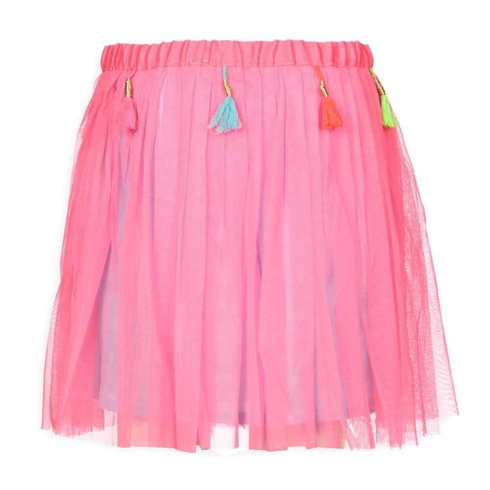 Kinderkleding fashion Mim Pi Meisjes Rok Jovie Neon Roze | Love The color | Mim Pi Zomer 2014 |  www.kienk.nl