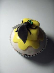 Fly on Butter Cupcake
