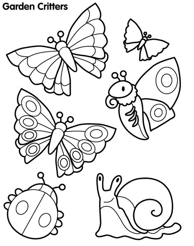 japanese garden coloring page | You can see these garden critters ...
