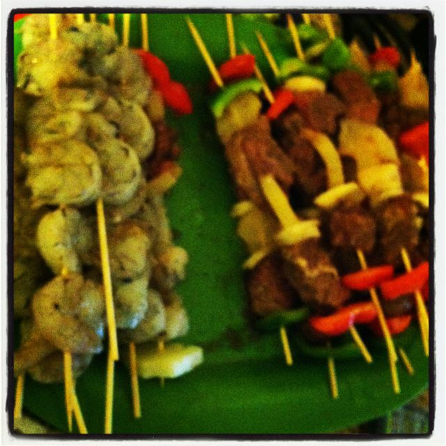 Yummy day for kabobs and treats from the grill