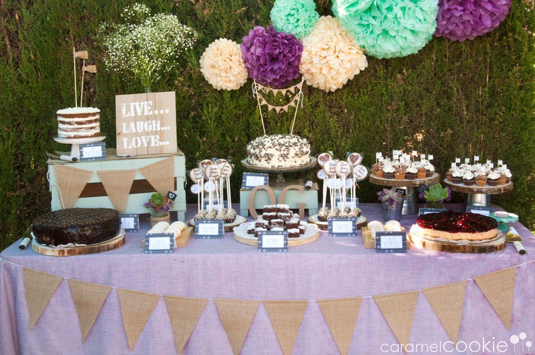 Mesa dulce boda caramel cookie mesa de dulces - Decorar estilo shabby chic ...